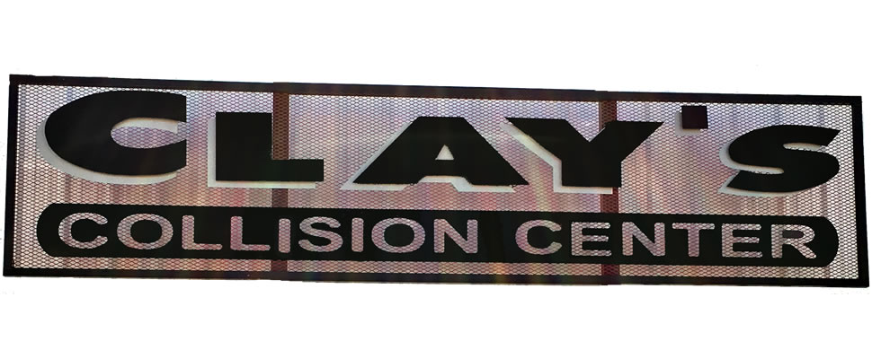 Clays Collision Sign